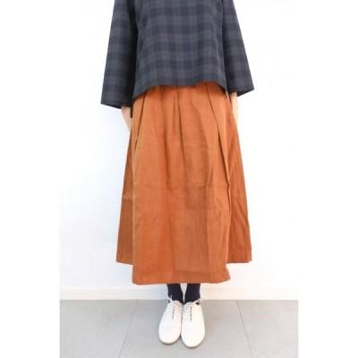 Nouvelles du paradis | リネンオックス起毛スカート (cinnamon) | スカート