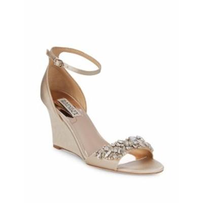 バッジリーミシュカ レディース シューズ サンダル Tyra Embellished Satin Ankle Strap Sandals