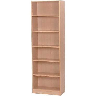 本棚 シェルフ 棚 幅59cm 高さ180cm 6段 ワイド ナチュラル 収納棚 収納 ラック オープンラック 書棚 カラーラック