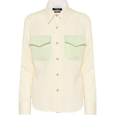 カルバンクライン Calvin Klein 205W39NYC レディース ブラウス・シャツ トップス Wool shirt off white arcadian green