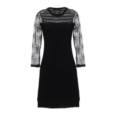 BOUTIQUE MOSCHINO ミニワンピース&ドレス ブラック 38 ナイロン 100% / レーヨン / ポリエステル ミニワンピース&ドレス