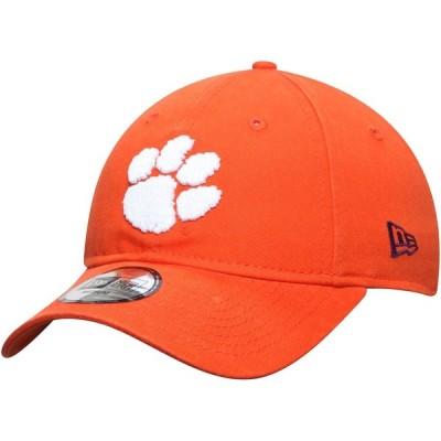 """メンズ ハット """"Clemson Tigers"""" New Era Core Fit 49FORTY Fitted Hat - Orange"""