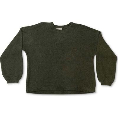 フル サークル トレンド FULL CIRCLE TRENDS レディース ニット・セーター 大きいサイズ トップス Trendy Plus Size Bubble-Sleeve Sweater Dusty Olive