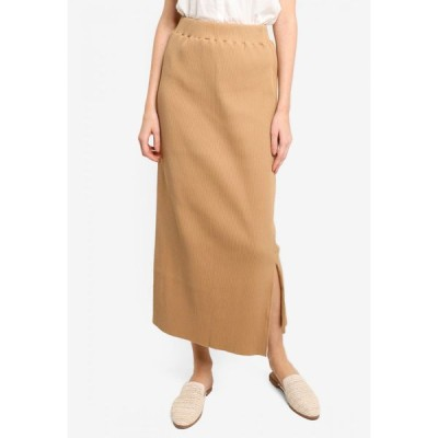ローリーズファーム Lowrys Farm レディース ロング・マキシ丈スカート スカート Rib Skirt Beige