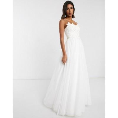 エイソス レディース ワンピース トップス ASOS EDITION wedding dress with 3D embroidered bodice