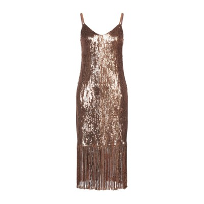 VANESSA SCOTT ミニワンピース&ドレス カッパー S ポリエステル 96% / ポリウレタン 4% ミニワンピース&ドレス