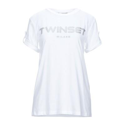 ツインセット シモーナ バルビエリ TWINSET T シャツ ホワイト XS コットン 100% / ポリウレタン T シャツ