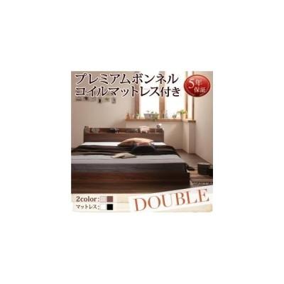 ベッド ダブル ローベッド フロアベッド Claire Pボンネルマットレス付き ダブルサイズ