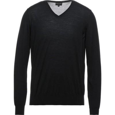アルマーニ GIORGIO ARMANI メンズ ニット・セーター トップス sweater Black