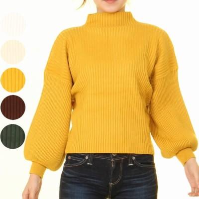 レディース ハイネック ドルマン袖 秋 冬 暖かい 伸縮性 ストレッチ 肌見せ セーター ドルマン袖 肌触り 着心地 長袖 かわいい ぽわん袖 女性らしい