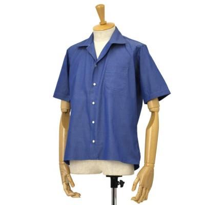 INDIVIDUALIZED SHIRTS【インディビジュアライズドシャツ】シャンブレー キャンプカラーシャツ B31BOO コットン ブルー