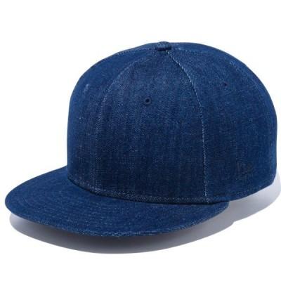 ニューエラ キャップ 帽子 NEW ERA 9FIFTY ベーシック インディゴデニム ネイビーフラッグ