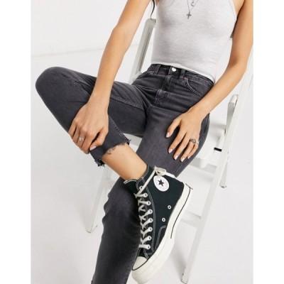 トップショップ レディース デニムパンツ ボトムス Topshop straight leg jeans in washed black