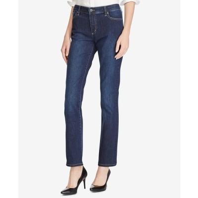 ラルフローレン デニムパンツ ボトムス レディース Super Stretch Premier Straight Jeans, Regular and Short Lengths Deep Royal Wash