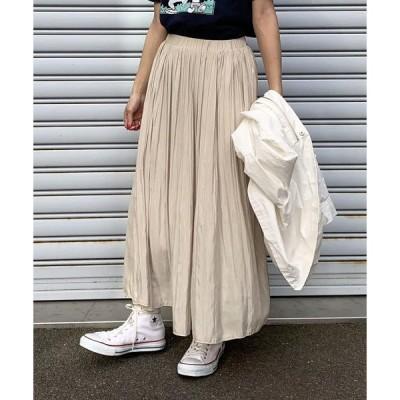 LIPSTAR / リップスター シャイニーサテンプリーツスカート