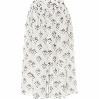 ブロック コレクション Brock Collection レディース ひざ丈スカート スカート Rovere floral cotton and silk midi skirt Natural