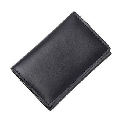 MURA コインケース 小銭入れ 本革 メンズ 薄型 1cm (ダークネイビー)