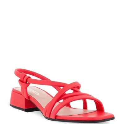 エコー レディース サンダル シューズ Elevate Square Strap Dress Sandals Hibiscus