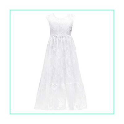 White Ivory Lace Flower Girl Dress Sleeveless Vintage Boho Long Sleeves Princess Rustic First Communion Country Dress A-line Tulle Tutu Birthday Party