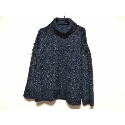 ケイトスペード Kate spade 長袖セーター サイズS レディース 美品 ネイビー×白 タートルネック【中古】20200408