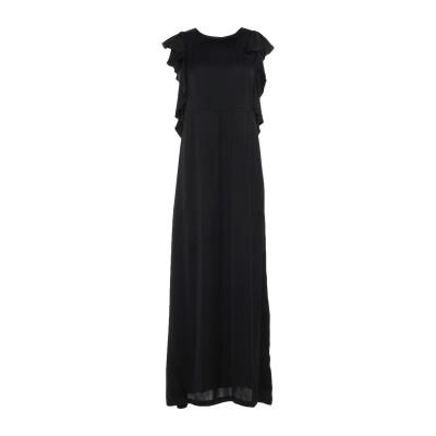 セミクチュール SEMICOUTURE ロングワンピース&ドレス ブラック 38 レーヨン 100% ロングワンピース&ドレス