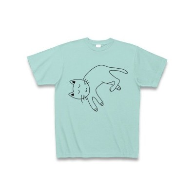 猫ぐっすり Tシャツ(アクア)