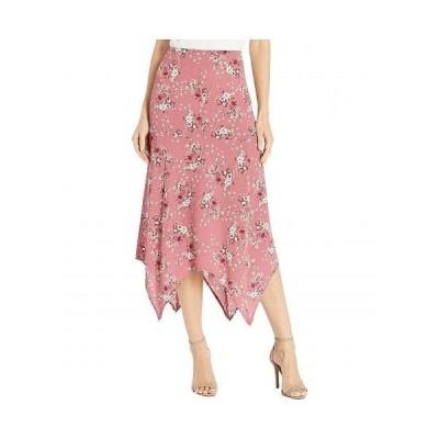 kensie ケンジー レディース 女性用 ファッション スカート Charmed Bouquets Shark Bite Skirt KS0K6349 - Vintage Rose Combo