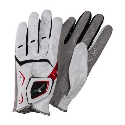 【送料無料】ミズノ 手袋W-GRIP LG(両手)(パークゴルフ) ホワイト×レッド Mizuno C3JGP903 62