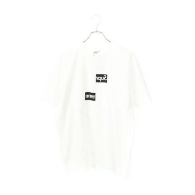シュプリーム SUPREME コムデギャルソンシャツ 18AW Split Box Logo Tee スプリットボックスロゴTシャツ L   OM10 中古