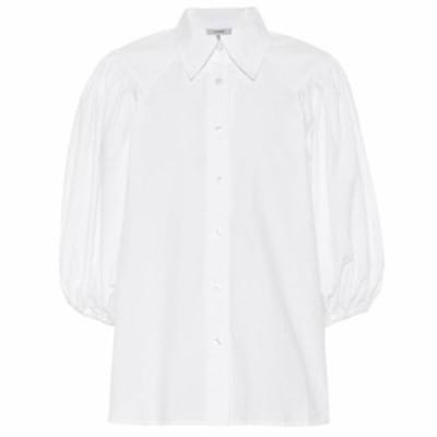 ガニー Ganni レディース ブラウス・シャツ トップス Cotton poplin shirt Bright White