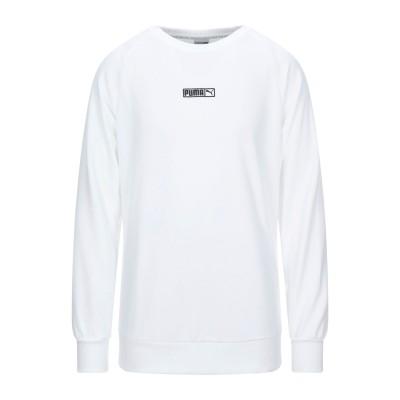 プーマ PUMA スウェットシャツ ホワイト S コットン 100% / ポリウレタン スウェットシャツ