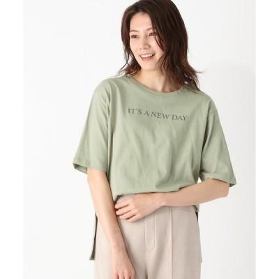 tシャツ Tシャツ 【S-LL】前後ロゴプリントTシャツ