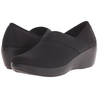 クロックス Crocs レディース ローファー・オックスフォード ウェッジソール シューズ・靴 Busy Day Stretch Asymmetrical Wedge Black/Black