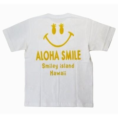 半袖 Tシャツ メンズ スマイル Hulalani サガラ刺繍 (メンズ/イエロー)ハワイアン雑貨 メール便対応可 サーフブランド ハワイアン 雑貨 ハワイ