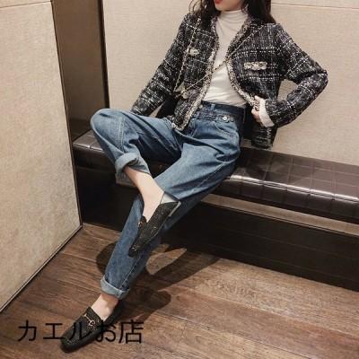ハロン ズボン レディース 秋服 新作 韓国風 ゆったり ジーパン カジュアル 上品 綿