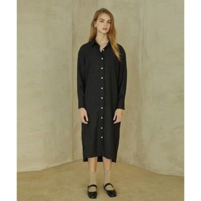 ドレス 【ANEDIT 】ポケットシャツ ワンピース
