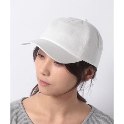 【フルラ】FURLA(フルラ)ロゴ刺繍 麻キャップ