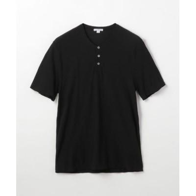 TOMORROWLAND/トゥモローランド コットンリネン ヘンリーネックTシャツ MYH3000 19 ブラック 0(S)