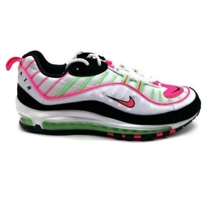 """ナイキ NIKE エア マックス 98 Air Max """"Watermelon"""" Running Shoes レディース CI3709-101 ローカット White Green Pink Black"""