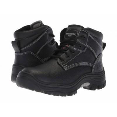 SKECHERS Work スケッチャーズ レディース 女性用 シューズ 靴 ブーツ ワークブーツ Burgin Krabok Black【送料無料】