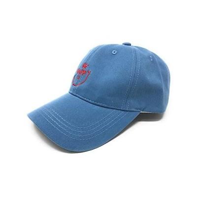 Lawevan キャップ 無地 メンズ 野球帽 レディース 日よけ 紫外線対策 カジュアル帽子 調節可能 スナイル(ブルー Free Size)