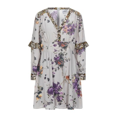 ANNARITA N TWENTY 4H ミニワンピース&ドレス グレー 38 ポリエステル 100% ミニワンピース&ドレス