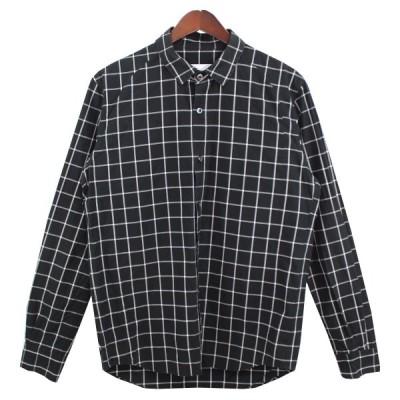 【8月23日値下】Sise チェックシャツ ブラック×ホワイト サイズ:1 (吉祥寺店)