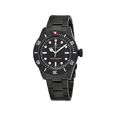Brooklyn Watch Co. Black Eyed Pea Black Dial Men's Watch 306-A-11-BB-BLK 並行輸入品