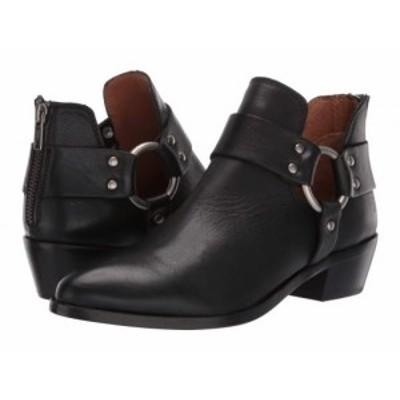 Frye フライ レディース 女性用 シューズ 靴 ブーツ アンクル ショートブーツ Ray Harness Back Zip Black Soft Full Grain【送料無料】