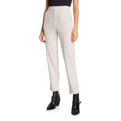 ラグアンドボーン レディース カジュアルパンツ ボトムス Poppy High-Waist Wool Check Pants