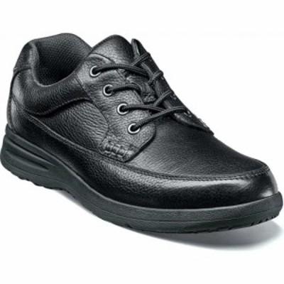 ナンブッシュ Nunn Bush メンズ 革靴・ビジネスシューズ シューズ・靴 Cam Moc Toe Oxford Black Tumbled Leather
