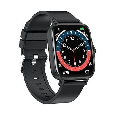 Rengu スマートウォッチ Bluetooth 音声通話 1.7インチ大画面活動量計 歩数計 スマートブレスレット 腕時計 睡眠測定 着信通知 アプ