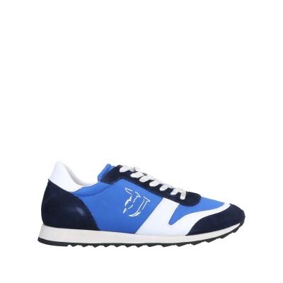 トラサルディ ジーンズ TRUSSARDI JEANS スニーカー&テニスシューズ(ローカット) ブルー 43 革 / 紡績繊維 スニーカー&テニス