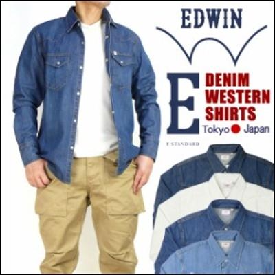 EDWIN エドウィン DENIM WESTERN SHIRTS -デニムウエスタンシャツ- E STANDARD E スタンダード ET2025